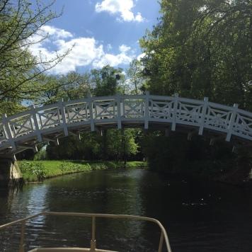 Sicht auf eine der vielen Brücken