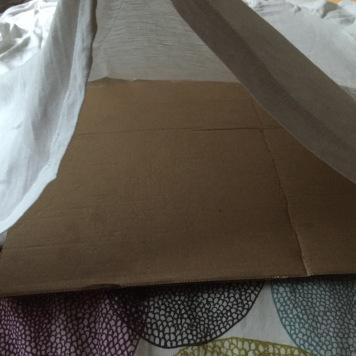 Vorbereitung mit Pappe 2
